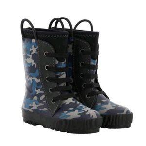 Western Chief Blue Camo Neoprene Rainboots 9/10